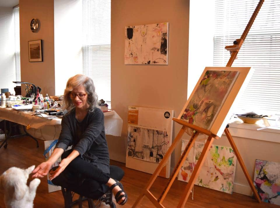 Susan Weiss Berry in her studio. Contact Susan for more info.